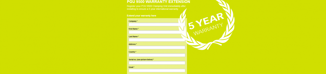PGU 9500 WARRANTY EXTENSION